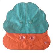 Freedi Inflatable Spa Bath Pillow Soft Shell Flower Shape for Home Travel Random Colour