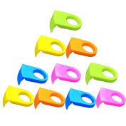 Ozzptuu 10pcs ABS Drink Clips Bottle Buckle Holders Beer Cocktail Snap for Schooner & Goblet Glasses