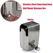Chamber Dispenser, Doinshop Steel Liquid Soap Dispenser Wall Mount Shampoo Box