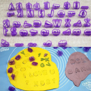Euone 40 Pcs Alphabet Letter Number Fondant Cake Biscuit Baking Mould Cookie Cutters