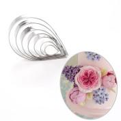 7pcs Rose Petal Cutter Set Gum Paste Fondant Cake Cutters Decorating Tools