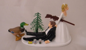 Wedding Reception Beer Cans Duck Fowl Hunter Hunting Cake Topper