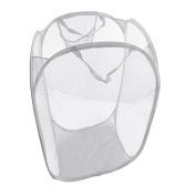 A-goo - UK Foldable Pop Up Mesh Washing Laundry Basket Bag Bin Hamper Toy Tidy Storage Organiser Organiser