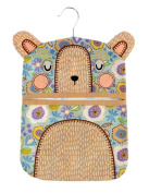 Ulster Weavers Cotton Peg Bag with Removable Hanger in Coco Bear Design