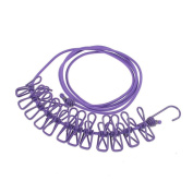 Clothesline Rope with 12 Clips Cloth Washing Line Drier Clothes Travel Camp Laundry Rope Line