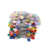LAOZHOU 200 Pack Multicolor Flat Flower Head Pins Boxed