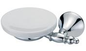 BA Tempo Wall Mounted Soap Dish Holder Ceramic Tray Soap Holder - Brass