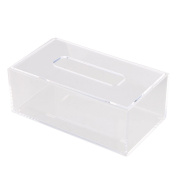 RDEXP 226x125x84mm Transparent Cover Acrylic Rectangular Tissue/Paper Box Holder Container