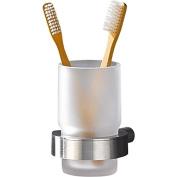 PSBA Self-Adhesive Toothbrush Toothpaste Holder Bathroom Brushes Tumbler, Matte