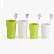 Grocery House Bathroom Tumbler Toothbrush Cup Holder Set,4 Cups