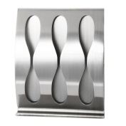 Stainless Steel Wall Mounted Toothbrush Holder Self-adhesive Tooth Brush Box-Three Holes
