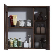 InFurniture IN3500-17M-BR 45cm Medicine Cabinet In Brown Elm Wood Texture Finish Medicine Cabinet