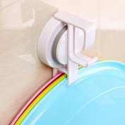 Bazaar Traceless Suction Cups Bath Rack Tray Wash Basin Hook Face Frame Tray Clamp