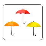 Voberry 3pcs/set Cute Umbrella Durable Wall Mount Key Holder Wall Hook Hanger Organiser