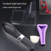 SK 3D Mould High-heeled Shoes Chocolate Decorating Silicone Gum Paste Baking Moulds Large Size