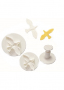 O'Creme Dove Plastic Plunger Cutters - 3 Different Sizes, 1 Each