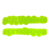 Swirly Lowercase Flexabet Mould by Marvellous Moulds
