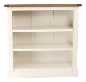 "Cabinet Bits ""Floral"" Low Bookcase with Square Skirt, Wood, White"
