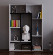 SPRING Bookcase - Glossy - Room Divider - Free Standing Shelving Unit for living room or office in a modern design
