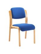Office Hippo Wood Framed Visitor Stacking Chair - Royal Blue