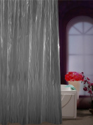 Adwatia Shower Curtain Mildew Resistant 3D Water Wave Shower Curtain Liner 72W x 72L-Grey