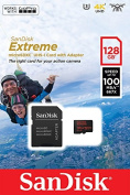 SanDisk SDSQXAF-128G-GN6AA 128 GB Extreme Micro SD Card with Adapter for Action Camera