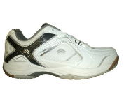 TECNO PRO FEATHER INDOOR COURT SHOES - WHITE/BLACK