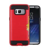 Sinwo Multi-function Card Pocket Hybrid Armour Case Cover for Samsung Galaxy S8 15cm