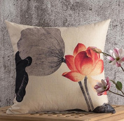 LY & HYL Classical plant flowers sand office pillow bedside car lumbar multi - functional pillow 45cm * 45cm , 1