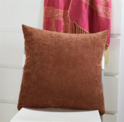 LY & HYL Modern simple candy plain velvet car bed head lumbar multi-function office chair cushion 45cm * 45cm , c look - coffee