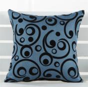 LY & HYL Classical cotton and linen flocking bedside car cushions sofa cushion multi - purpose office cushion 45cm * 45cm , 1