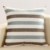 LY & HYL All-Season Home Textiles Striped Flannel Bedside Car Lumbar Office Multifunctional Cushion 43cm * 43cm , 16