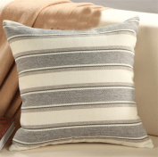 LY & HYL Comfortable All-Season Home Textiles Modern linen striped sofa bedside cushions office sewage pillow , 2