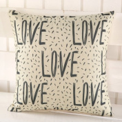 LY & HYL Fashion Creative Art Painting Cushion Simple Synthesis Linen Cushion Pillow 45cm * 45cm , 4