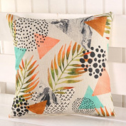 LY & HYL Creative Four Seasons General Flax Home Bedside Pillow Print Sofa Pad Cushion Pillow 45cm * 45cm , 1
