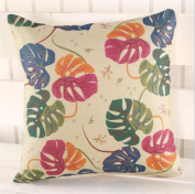 LY & HYL Creative home decoration sofa cushions digital printing imitation cotton linen head pillow 45cm * 45cm , 2