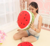 LY & HYL Furniture Decoration Bedside Cushions Red Watermelon Quilt Fruit Pillow Plush Toy Doll Sofa Pillow 45cm