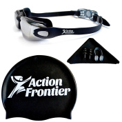 Action Frontier Swimming Goggles Bundle - Anti-leak, Anti-fog, UV protection, and Shatterproof