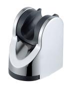 Beelee W205-CP Bathroom ABS Handheld Showerhead Adjustable Bracket Holder Wall Mount, Brushed Nickel
