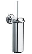 BA Hotel Wall Mounted Toilet Brush Bowl & Holder Set - Brass Chrome