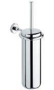 BA Tecno Wall Mounted Toilet Brush Bowl & Holder Set - Brass Chrome