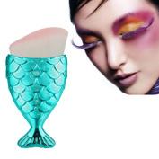Fish Scale Brush, Fishtail Bottom Makeup Brush, Bolayu Powder Blush Makeup Cosmetic Brushes Tool
