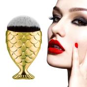 Fishtail Bottom Brush, Bolayu Makeup Brush Fish Scale, Powder Blush, Makeup Cosmetic Brushes Tool