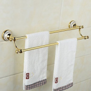 AISSION Creative Wall Mounted Double Towel Bars Brass & Ceramics Bathroom Bath Towel Rods,Silver
