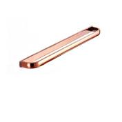 Aothpher 60cm Wall Mounted Copper Bathroom Towel Bar Single Towel Rack, Rose gold Polished