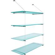 PSBA Wall Glass Shelf Towel Rack 60cm Storage Organiser Stainless Steel Matte
