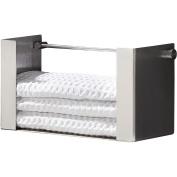 PSBA Wall Guest Hand Towel Holder Dispenser, Paper Towel Wipers, Steel Matte