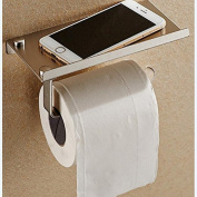 1 Set Stainless Steel Bathroom Paper Phone Holder with Shelf Bathroom Mobile Towel Rack Toilet Paper Storage Holder Tissue Stands
