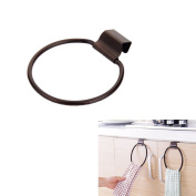 Fashionclubs Iron Towel Ring Over-the-Cabinet Door For Kitchen And Bathroom,Bronze