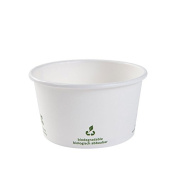 greenbox 500x Universal cups | disposable ice cream cup | carton cup | 300ml, 12oz round |with PLA innercoating | certified compostable | petrol free | without chemistry | white, with Icon print